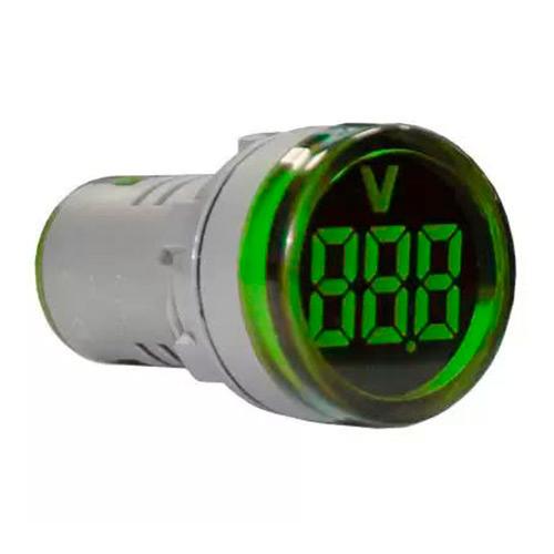 Индикатор значения напряжения AD22-RV зеленый Энергия