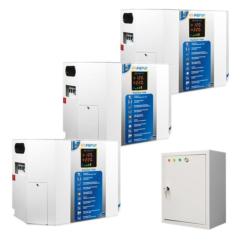 Трехфазный симисторный стабилизатор Энергия Premium 22500