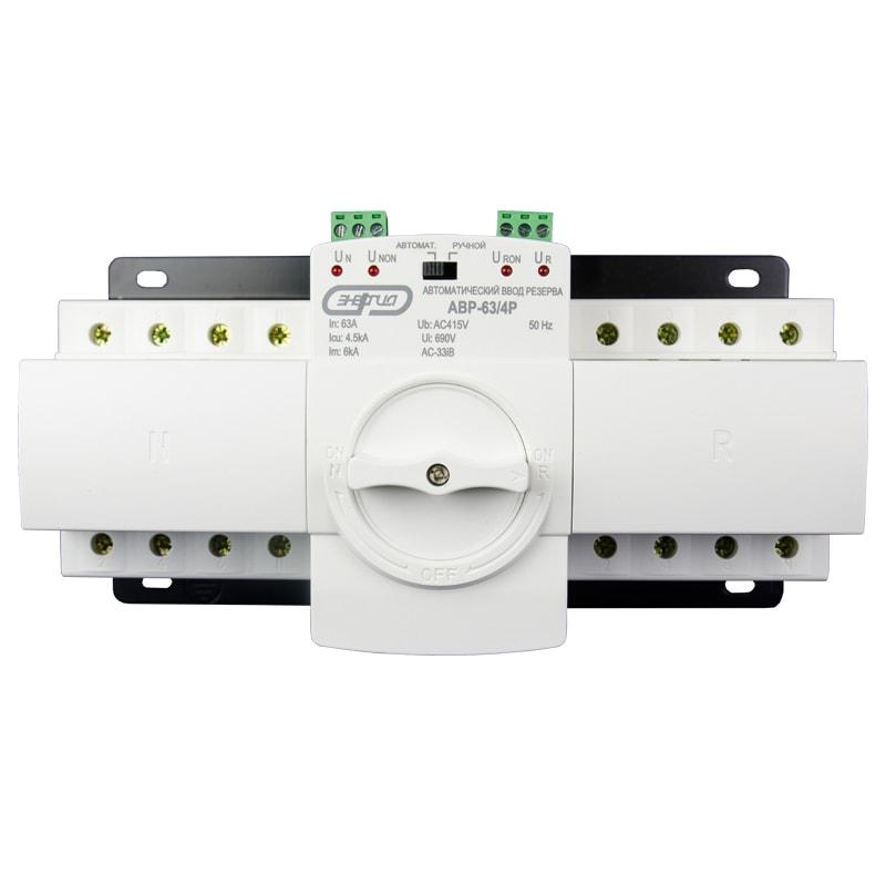 Устройство автоматического ввода резерва серии АВР-63/4Р Энергия фото