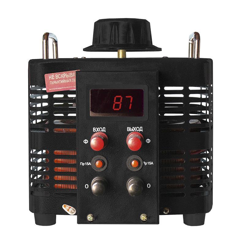 Автотрансформатор (ЛАТР) Энергия Black Series TDGC2-5кВА 15А (0-300V) однофазный фото