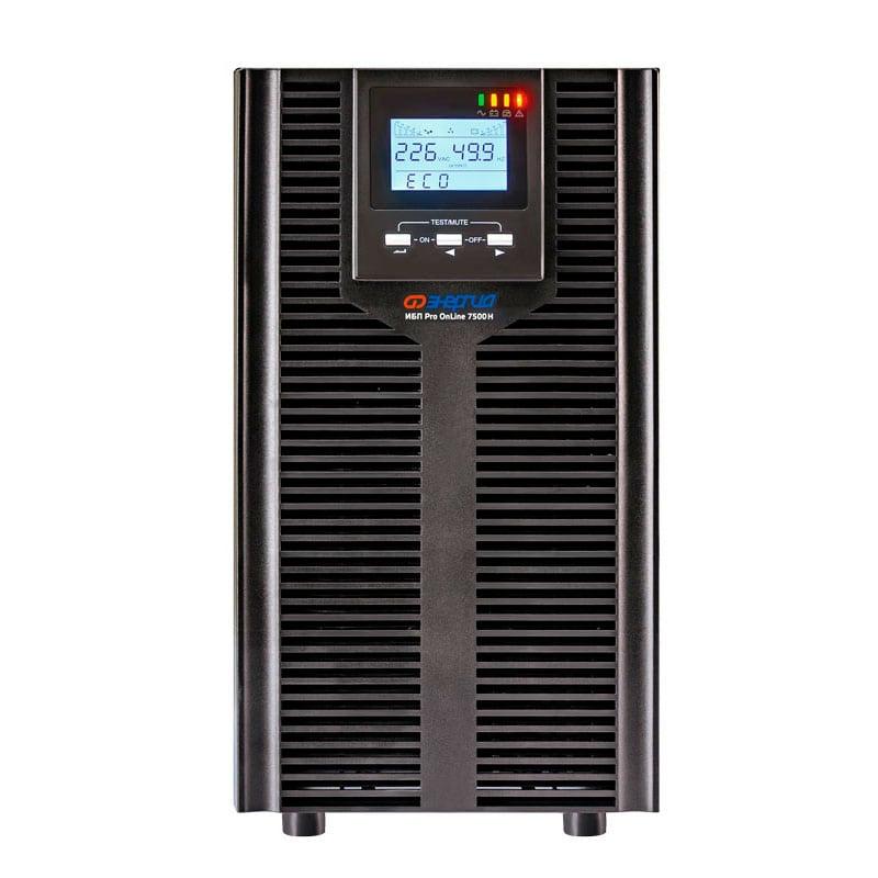 С двойным преобразованием ИБП с двойным преобразованием Энергия ИБП Pro OnLine 7500 (EA-9006H) 192В напольный фото