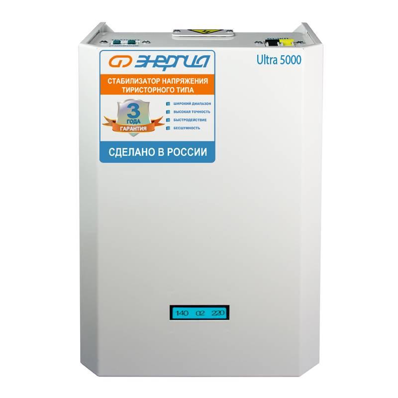 Однофазный стабилизатор напряжения Энергия Ultra 5000 фото