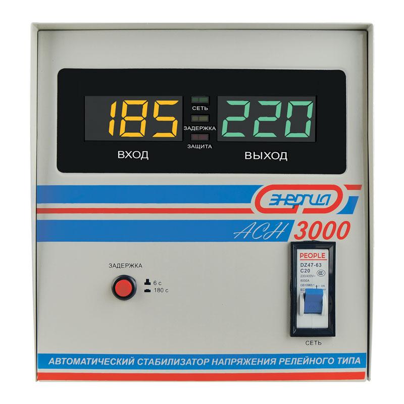 Однофазный стабилизатор напряжения Энергия АСН 3000 фото