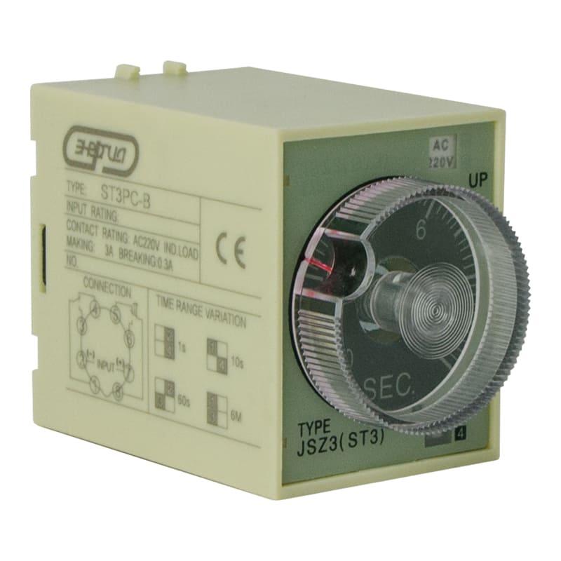 Реле времени 220V ST3PC-B (0.1-1s/10s/60s/6 min) Энергия фото