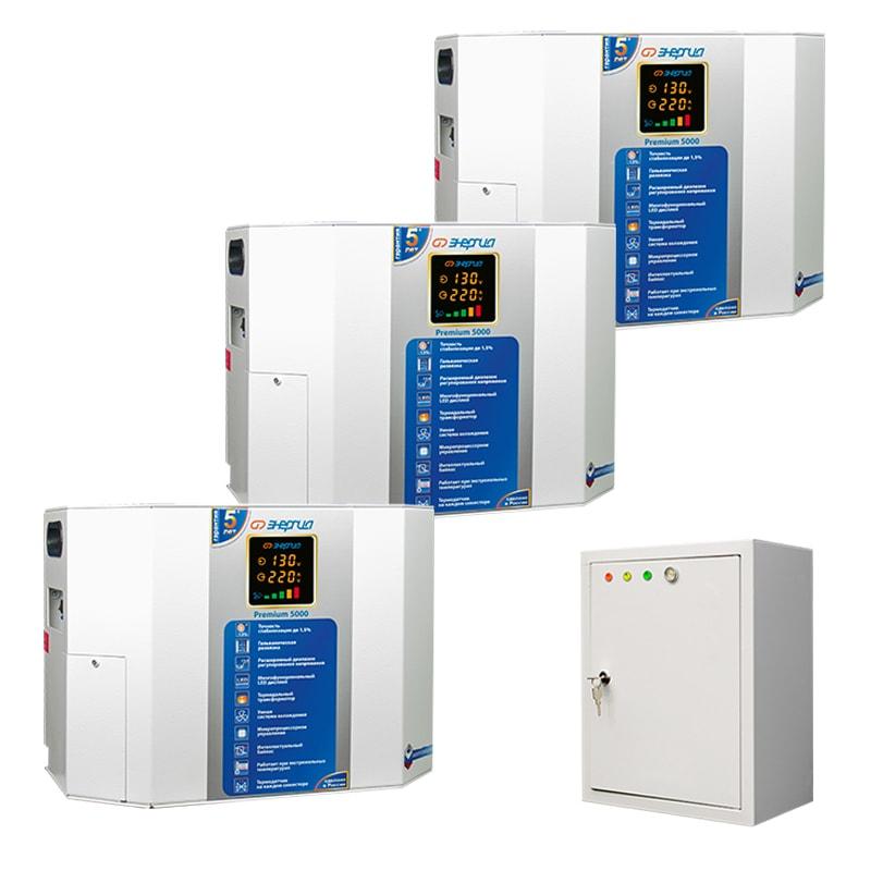 Трехфазный симисторный стабилизатор Энергия Premium 15000 фото