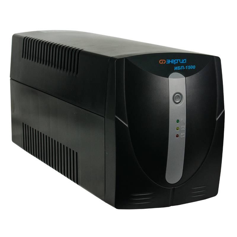 Источник бесперебойного питания Энергия ИБП 1500Источники бесперебойного питания<br>Тип инвертора:Line-interactive; <br>Способ установки:Напольный; <br>Форма напряжения:Синусоида (от сети) Модифицированная синусоида (от батареи); <br>Функция заряда аккумулятора:Есть;