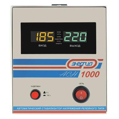 Однофазный стабилизатор напряжения Энергия АСН 1000 фото