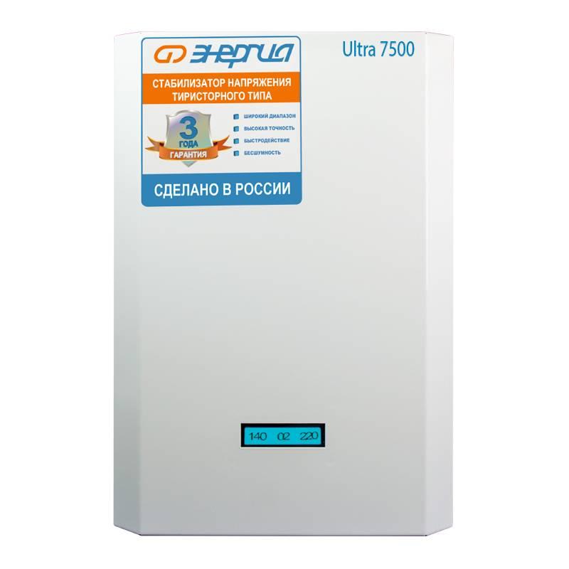 Однофазный стабилизатор напряжения Энергия Ultra 7500 фото