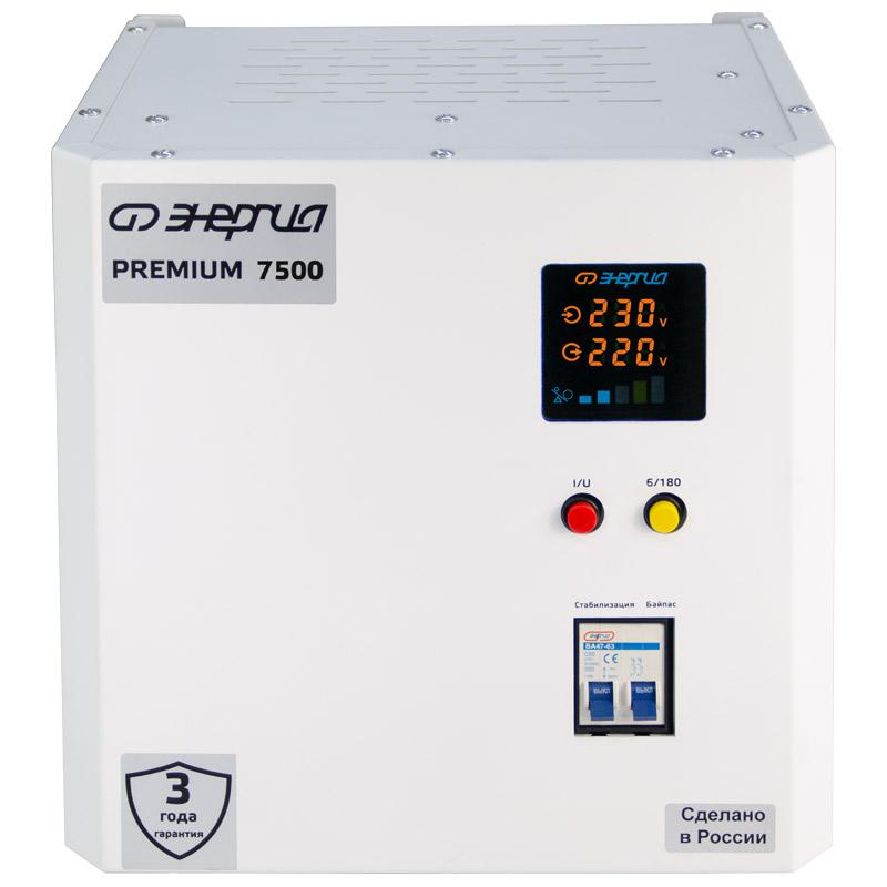 Однофазный стабилизатор напряжения Энергия Premium Light 7500 фото