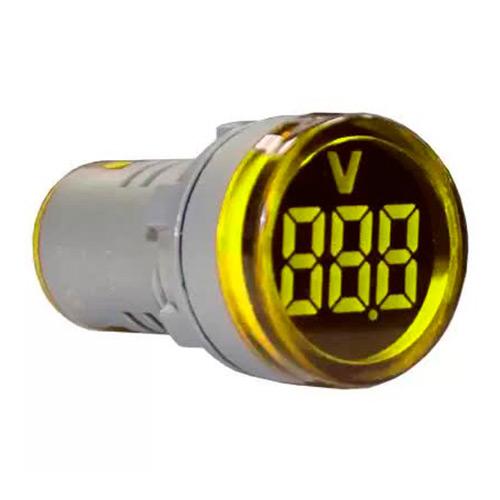Индикатор значения напряжения AD22-RV желтый Энергия