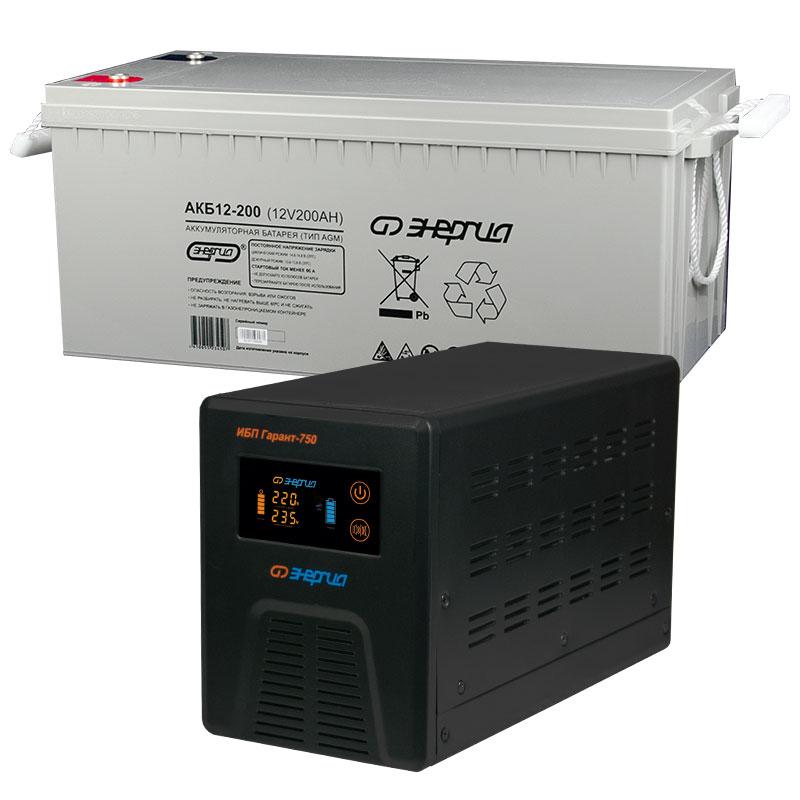 Комплект ИБП Инвертор Энергия Гарант 750 + Аккумулятор 200 АЧ фото