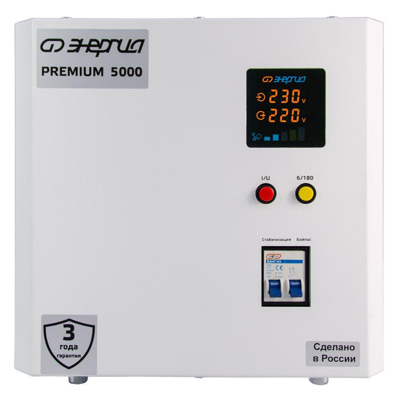 Однофазный стабилизатор напряжения Энергия Premium Light 5000 фото