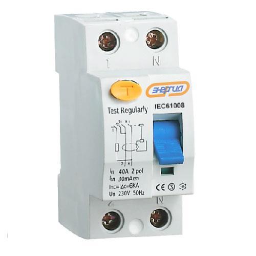 УЗО 2Р 16А 30 mA ЭНЕРГИЯУзо<br>Двухполюсное устройство защитного отключения серии Энергия УЗО-2, номинальный ток – 16 А.