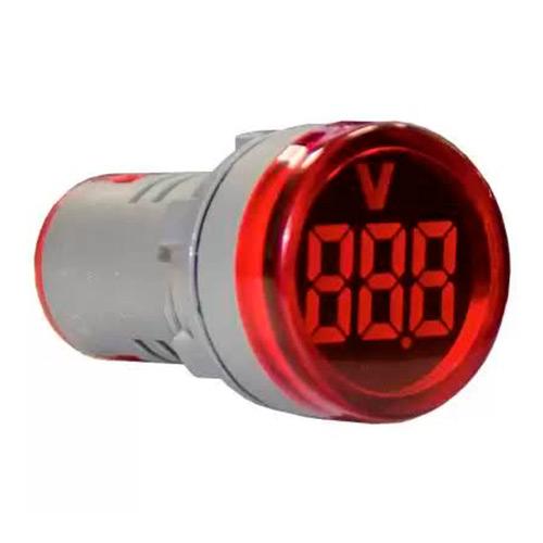 Индикатор значения напряжения AD22-RV красный Энергия