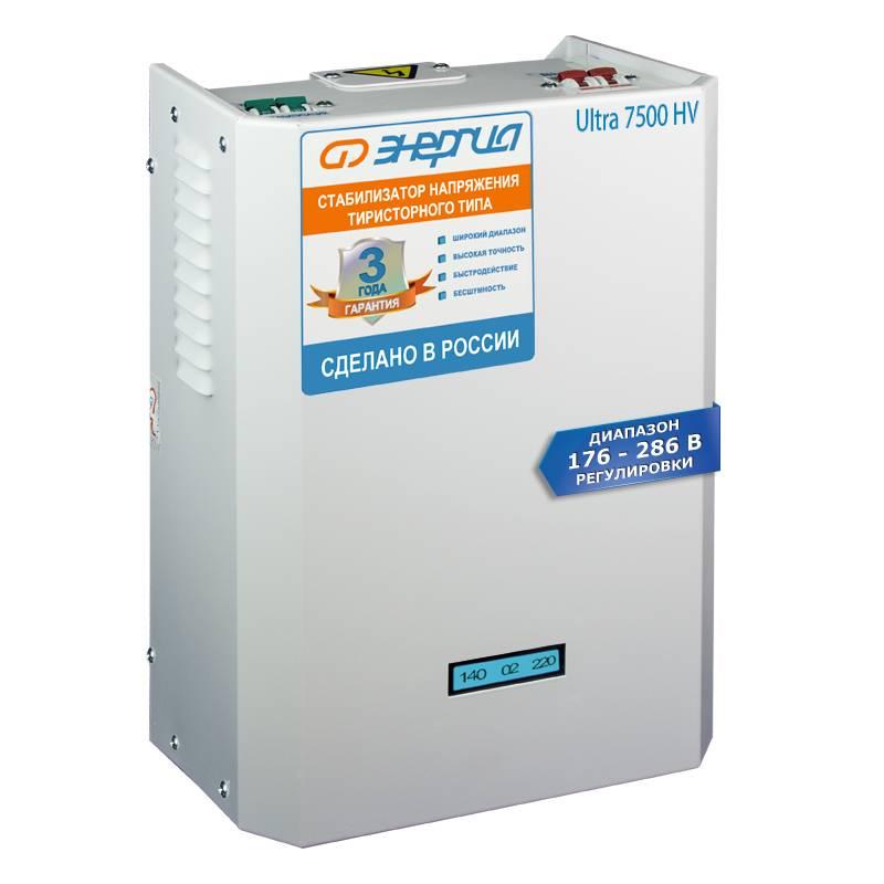 Однофазный стабилизатор напряжения Энергия Ultra 7500 (HV) фото