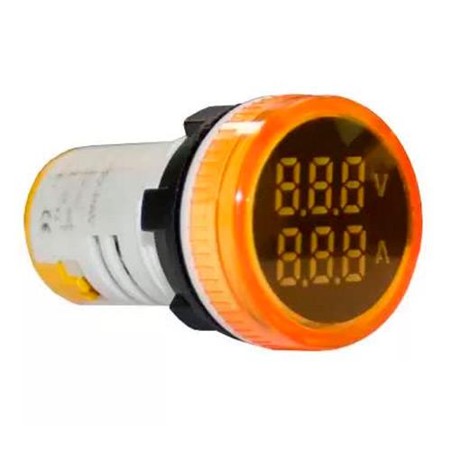 Индикатор значения напряжения и тока AD22-RAV желтый Энергия