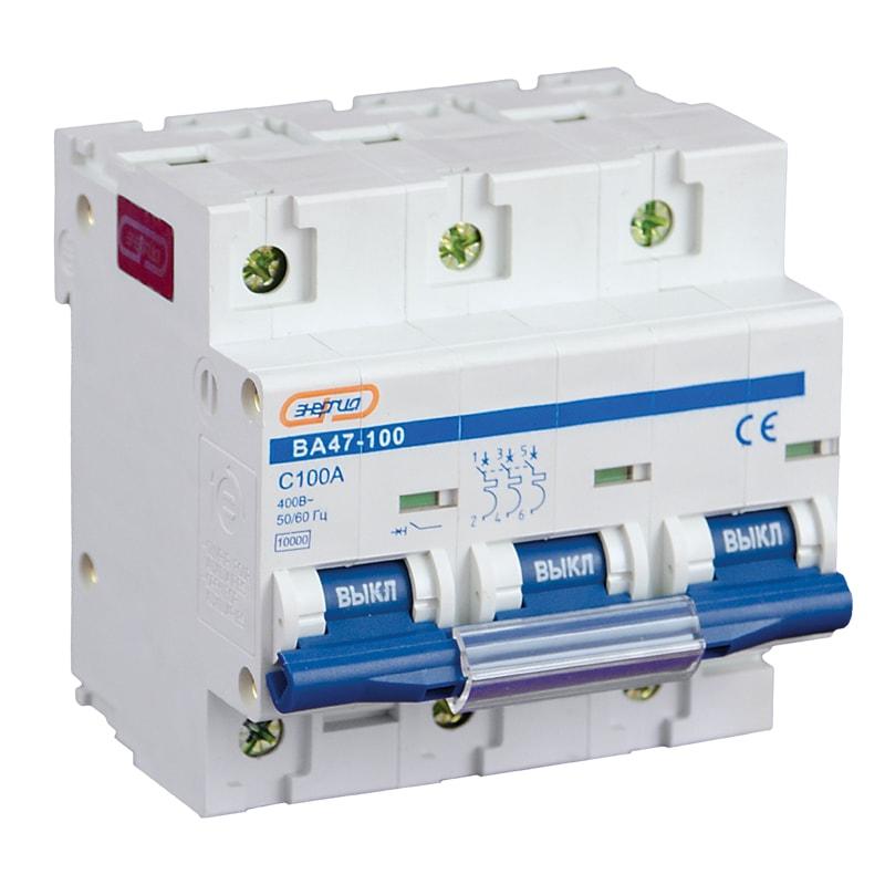 Автоматический выключатель NC100H 3P 100A ВА 47-100 Энергия фото