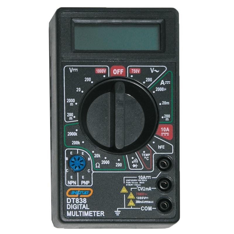 Мультиметр DT 838 ЭНЕРГИЯМультиметры<br>Цифровой мультиметр Энергия DT 838 предназначен для использования<br>в лабораториях, цехах и в быту (в том числе в радиолюбительских целях). Этот мультиметр применяется для измерения: постоянного и переменного напряжения, постоянного тока, сопротивления,<br>т...