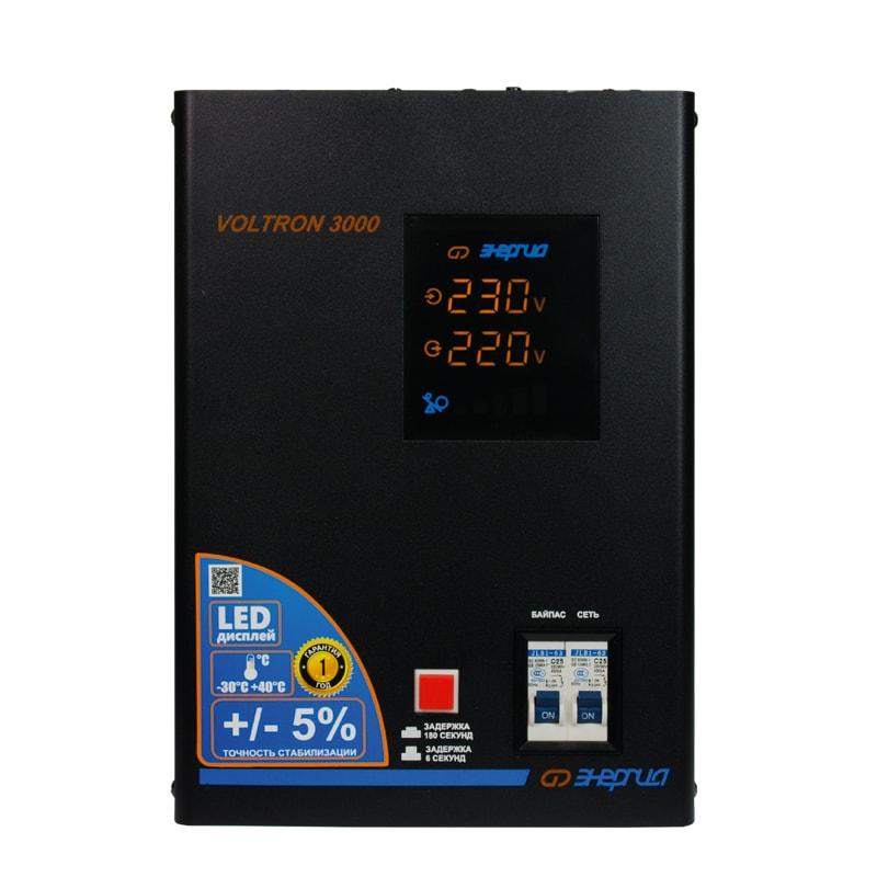Однофазный стабилизатор напряжения Энергия Voltron 3000 (HP) фото