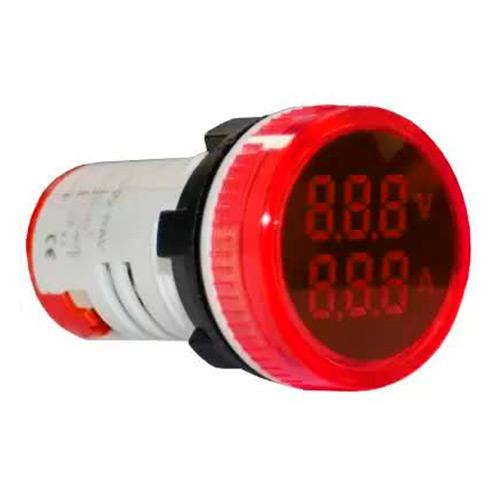 Индикатор значения напряжения и тока AD22-RAV красный Энергия