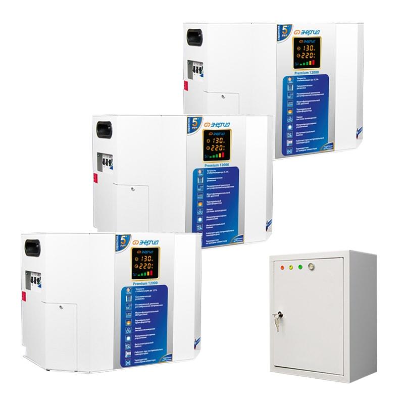 Трехфазный симисторный стабилизатор Энергия Premium 36000 фото