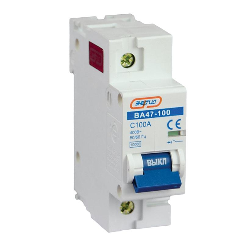 Купить Автоматический выключатель NC100H 1P 100A ВА 47-100 Энергия
